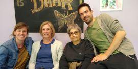 Deelnemers Chris, Monique en Ursula, buurtwerker Karen en coach Wouter vertellen